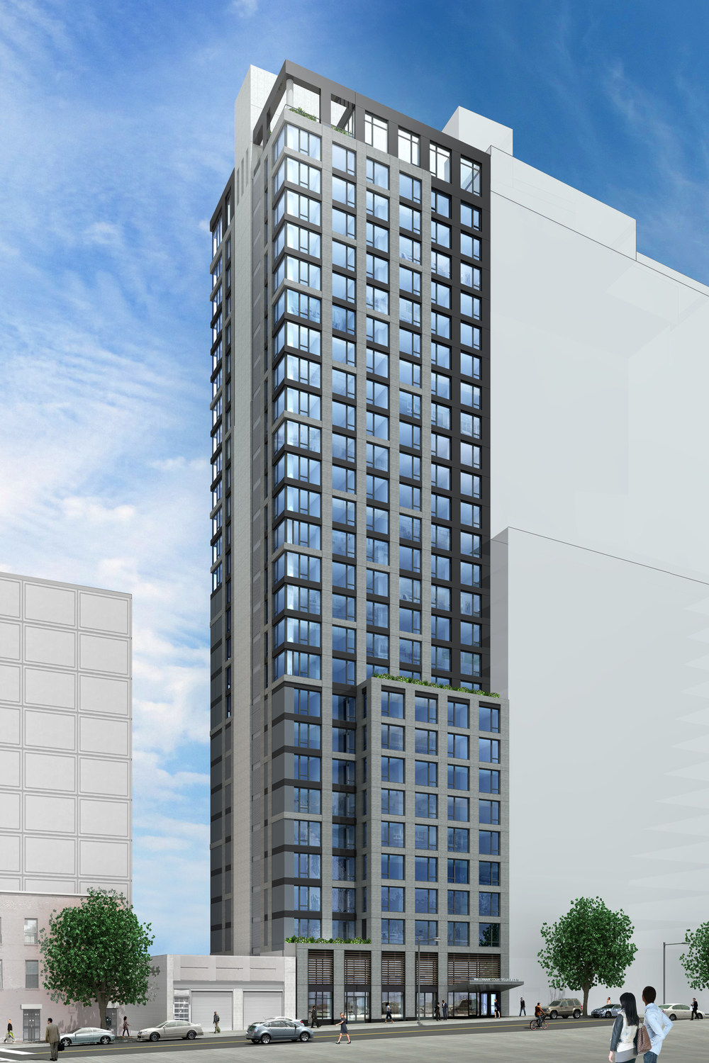 27 story 168 unit residential building rises to third