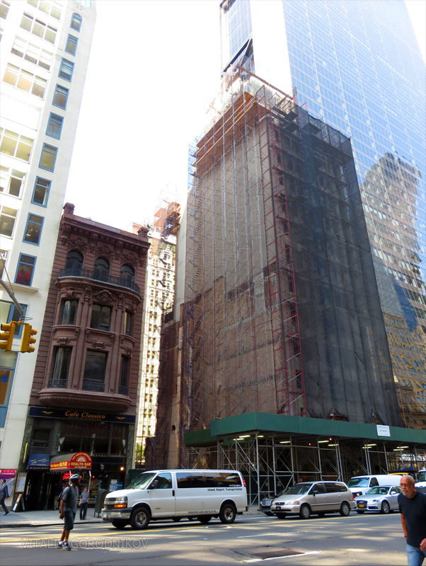 November 2015. 31 and 33 west 57th are already gone. Chickering Hall is on the right