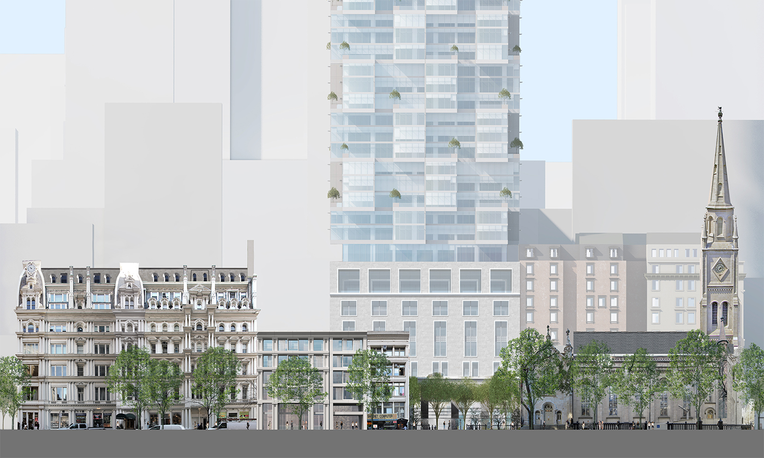 Proposed conditions on 29th Street.
