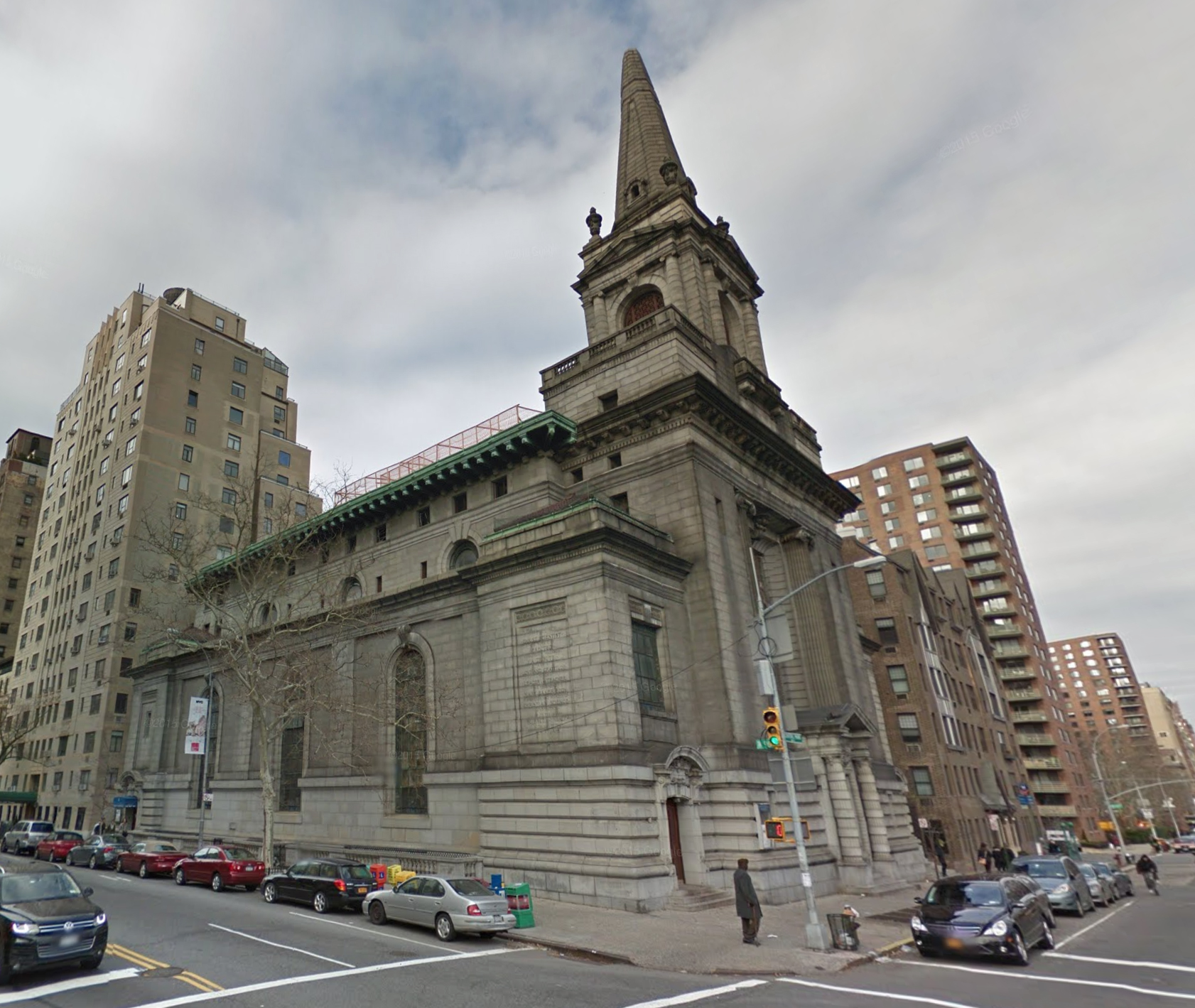 361 Central Park West, with mock-up in December 2014. Via Google Maps.