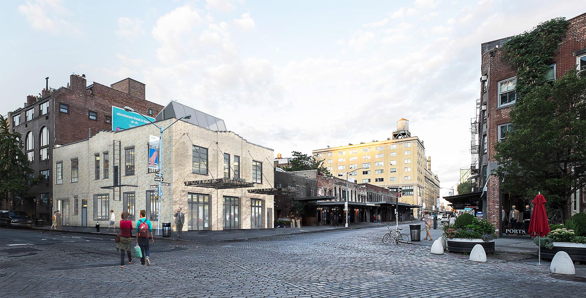 Rendering showing 46-48 Gansevoort Street.