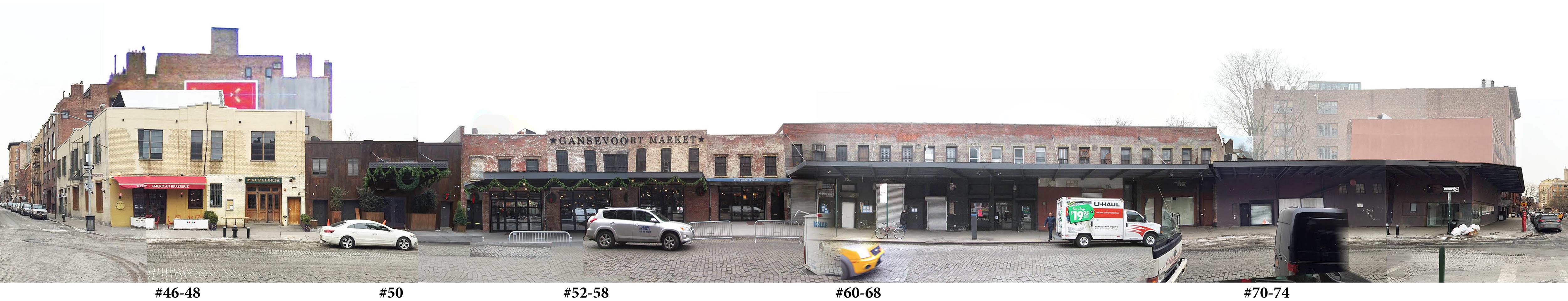 Composite of 46-74 Gansevoort Street. Via BKSK.