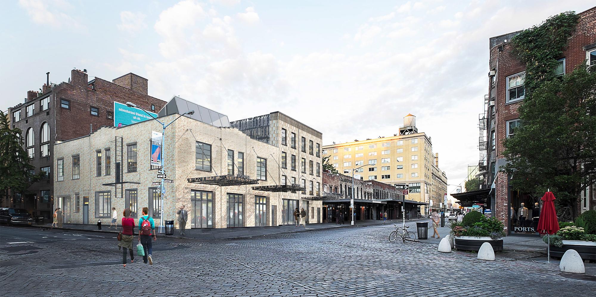 Rendering showing 50 Gansevoort Street.