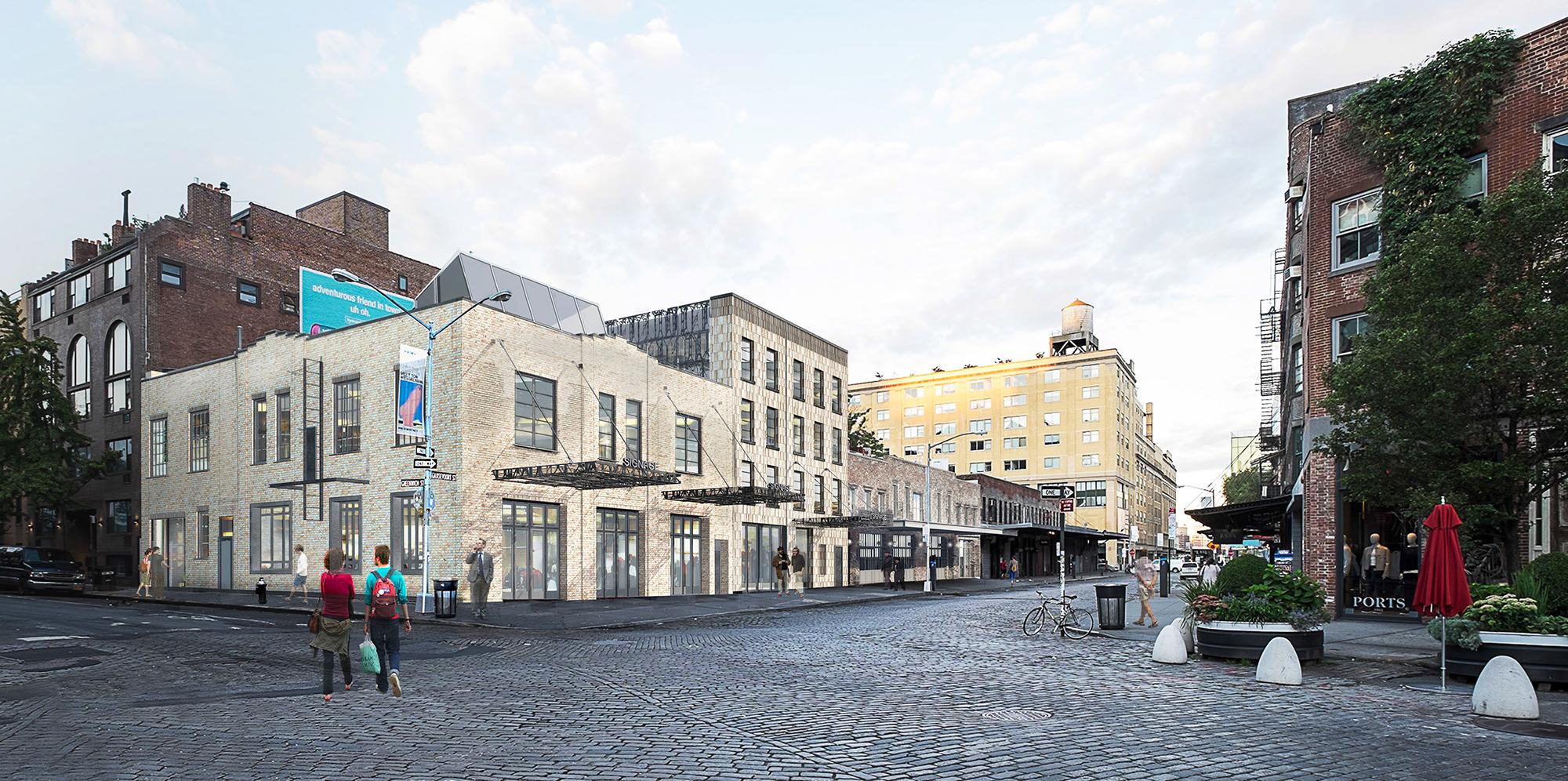 Rendering showing 52-58 Gansevoort Street.