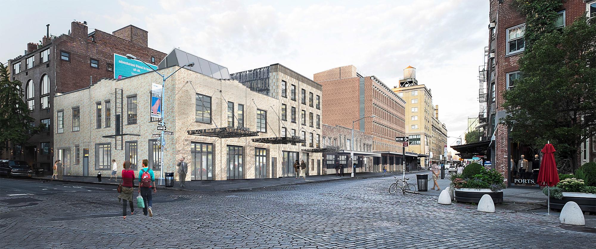 Rendering showing 60-68 Gansevoort Street.