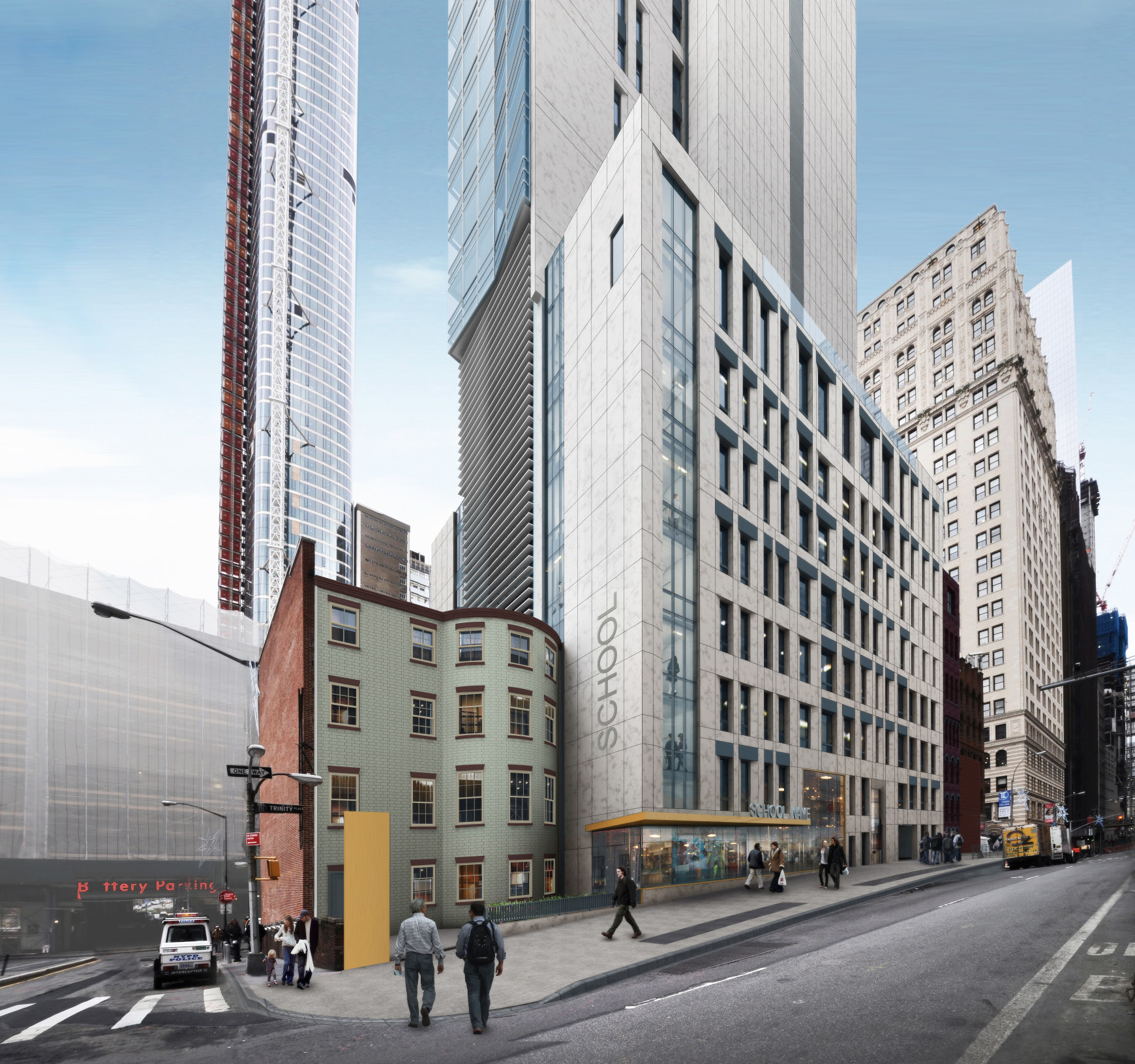 Proposal for the rear of 67 Greenwich Street.