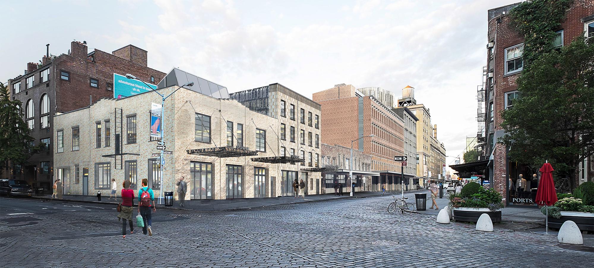 Rendering showing 70-74 Gansevoort Street.