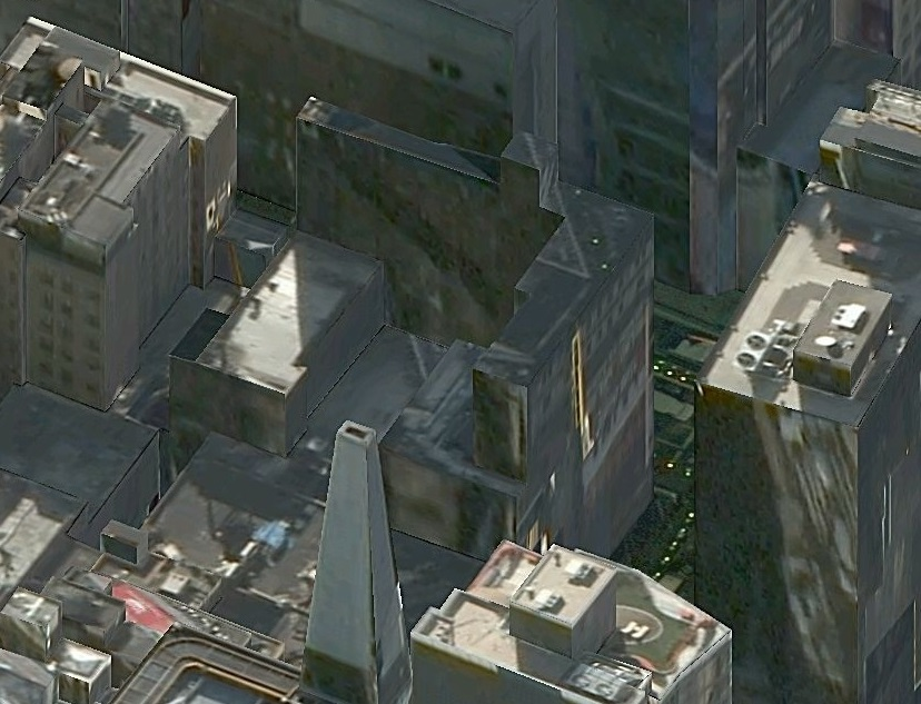 "701 Seventh Avenue in ""bird's eye view"" on Bing Maps"