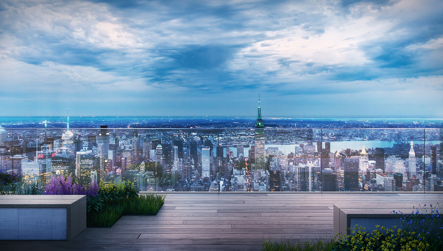 Rendering of the view from 66 Hudson Boulevard. Credit: BIG/Tishman Speyer.