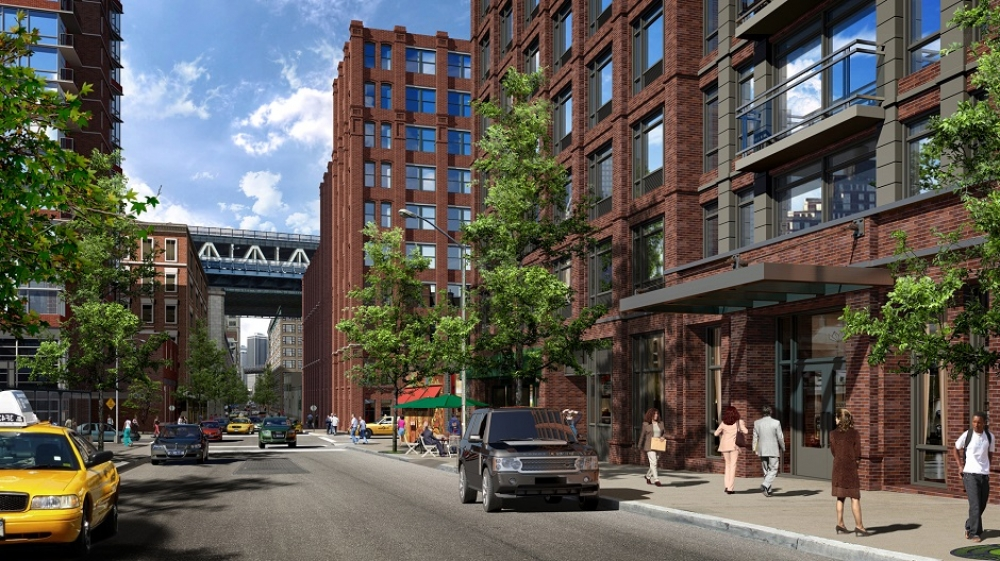 Rendering of 181 Front Street. Via Aufgang Architects.