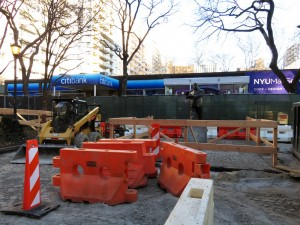 Landscape renovations at LaGuardia Place. Photos by the author unless noted otherwise.