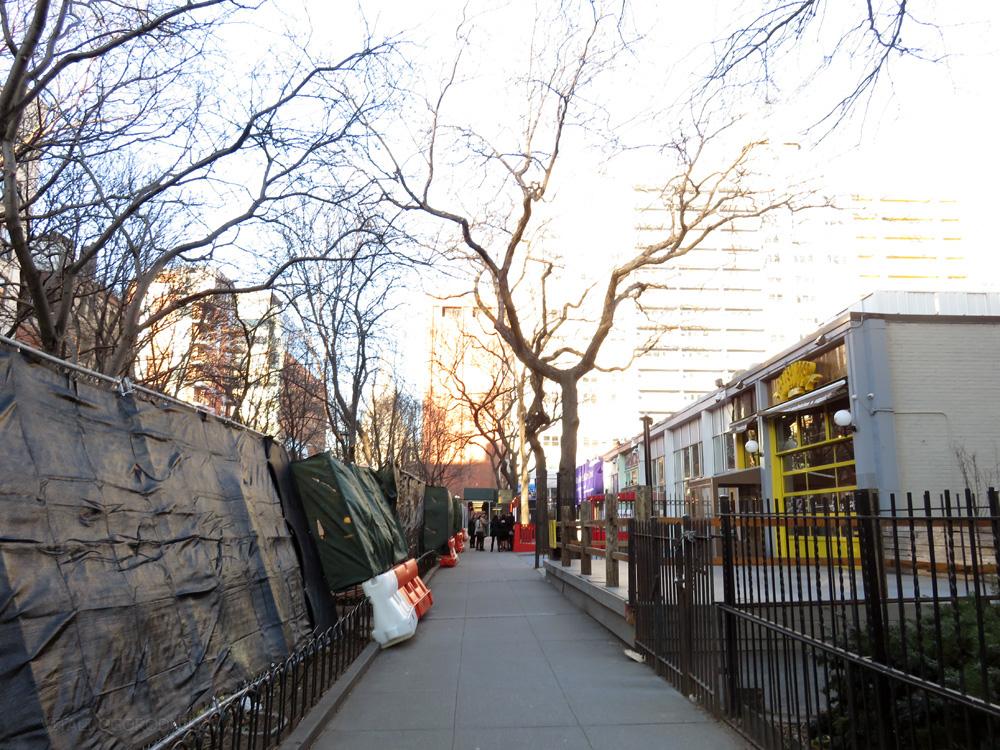 Landscape renovations underway at nyu 39 s bleecker street for Landscape renovations
