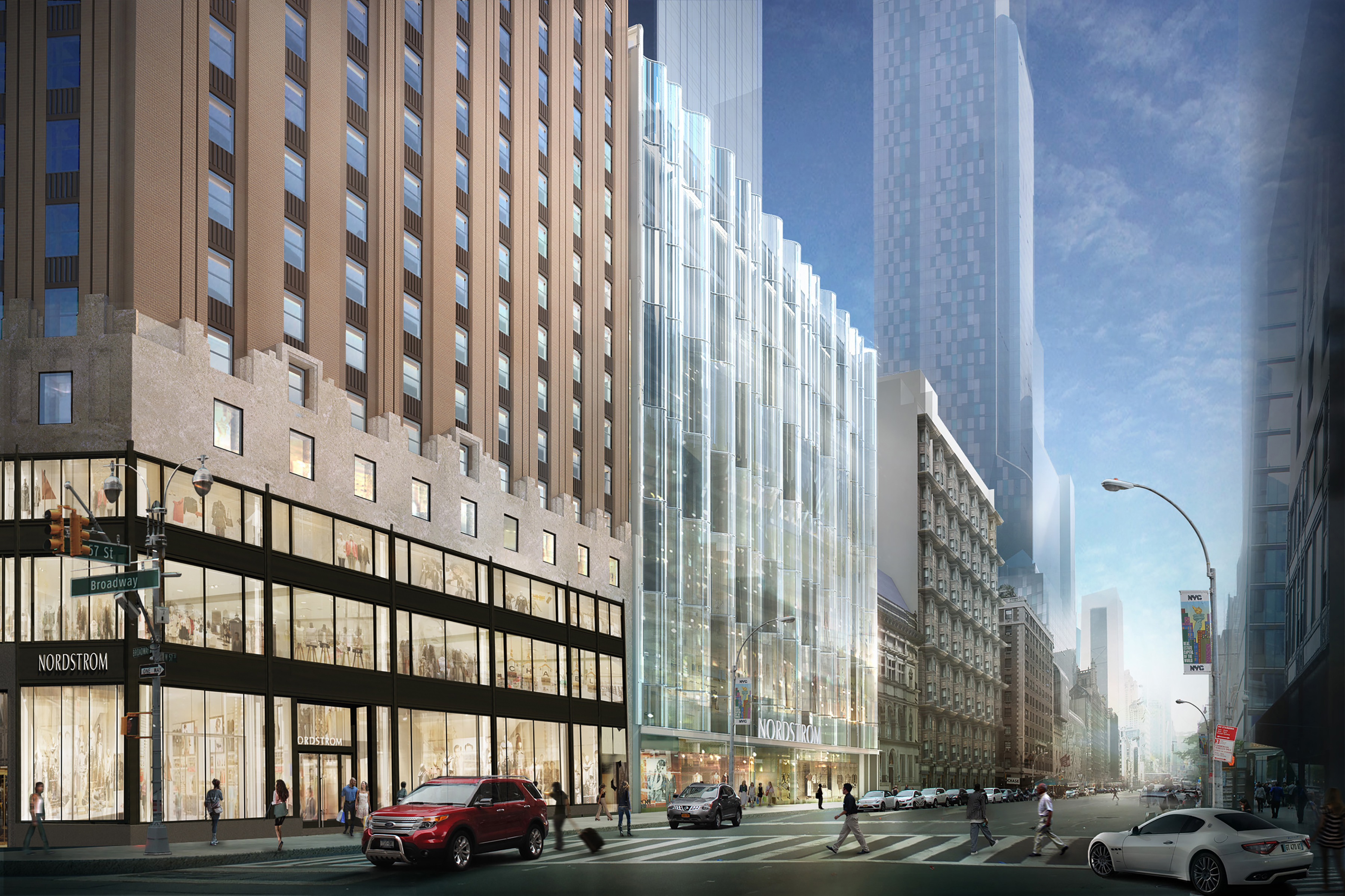 Official Renderings Revealed Of Nordstrom Tower S Retail Base Under