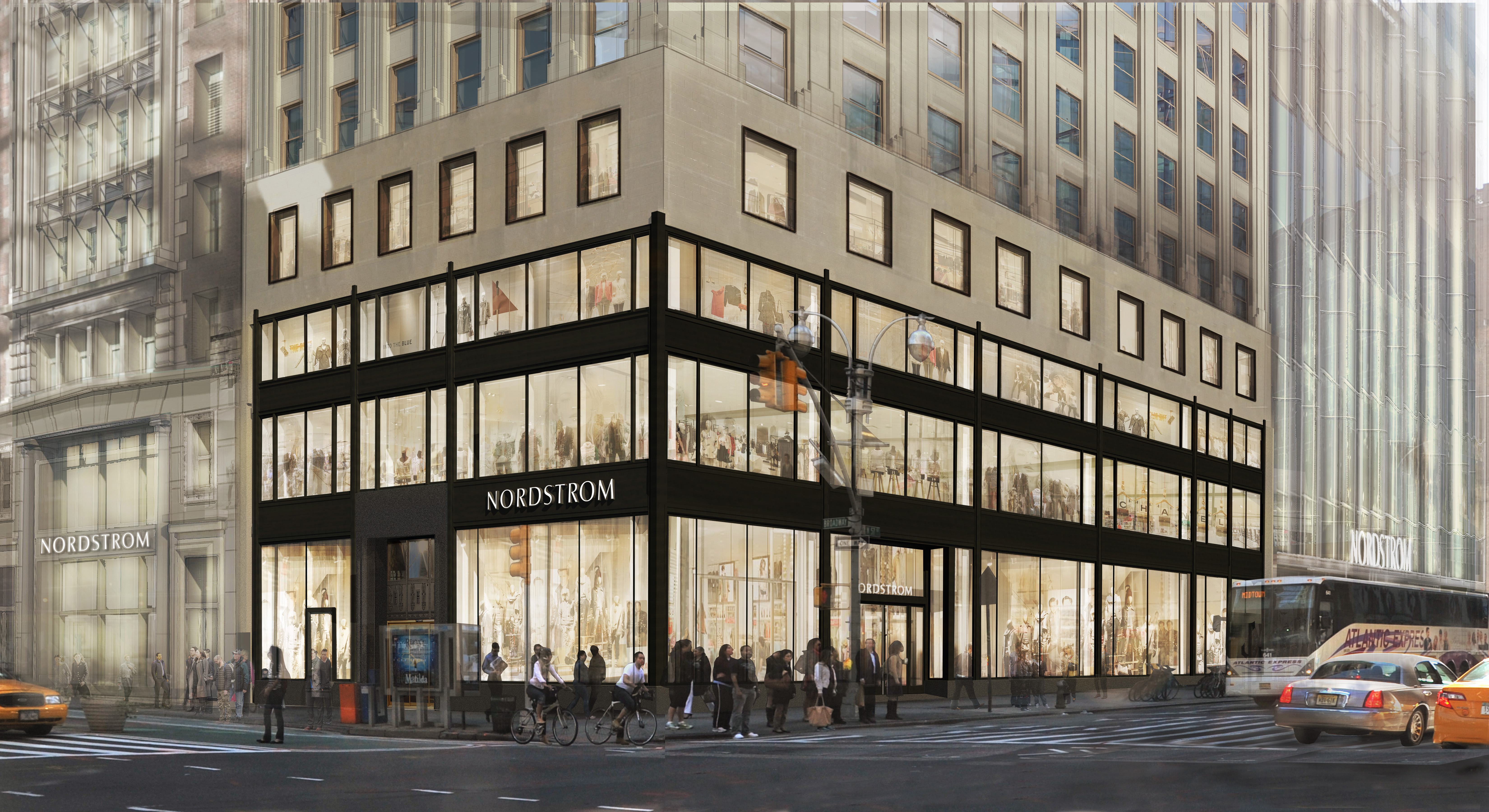Nordstrom's new store is situated near Columbus Circle, in a neighborhood of New York that isn't necessarily known for its great shopping and might be a trek for some of its customers.