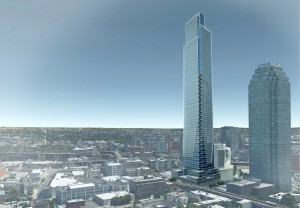 Rendering of Court Square City View Tower at 23-15 44th Drive via United Construction and Development