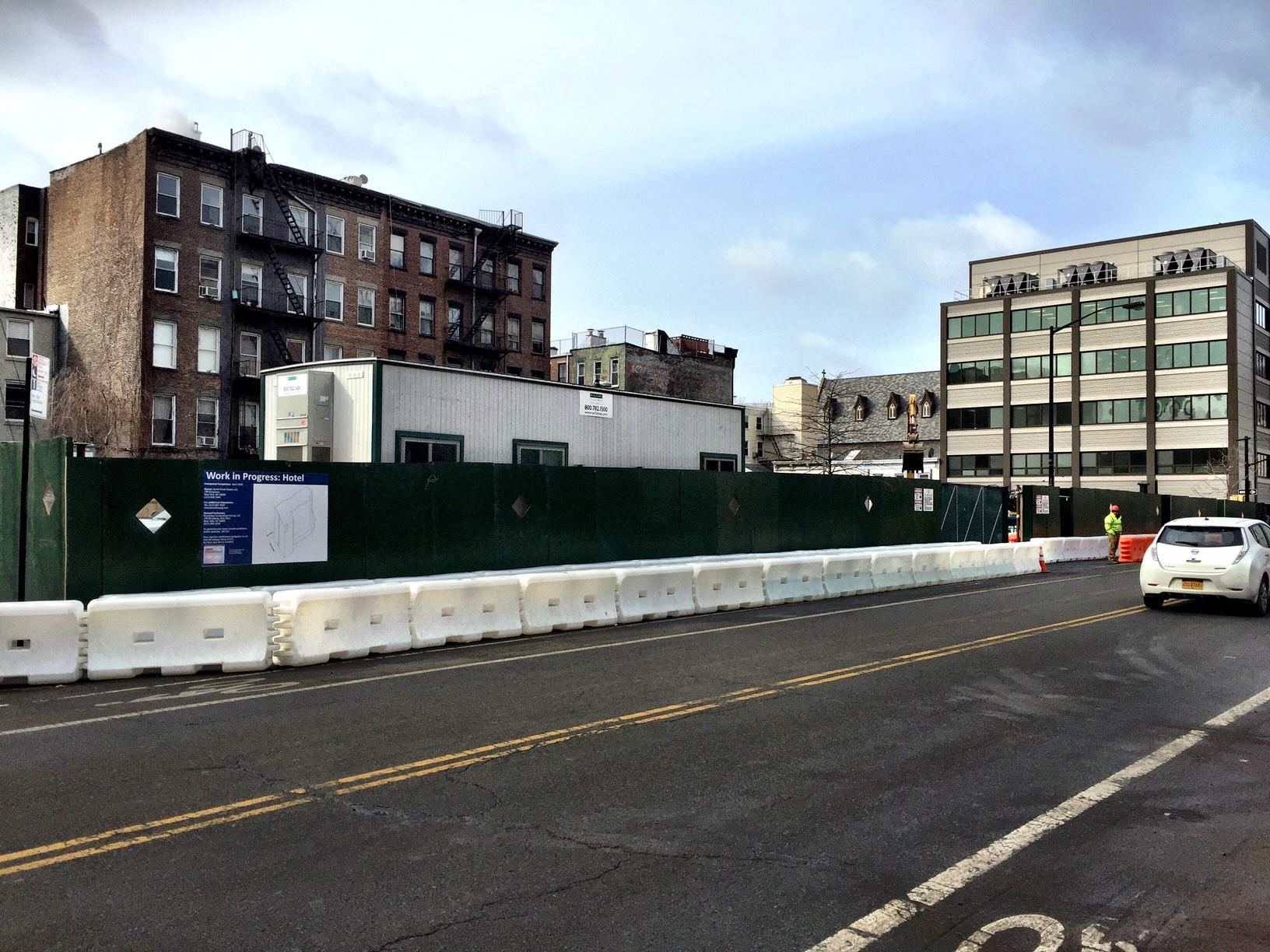 61 Bond Street construction site as viewed from Schermerhorn Street. Photo by Tectonic.