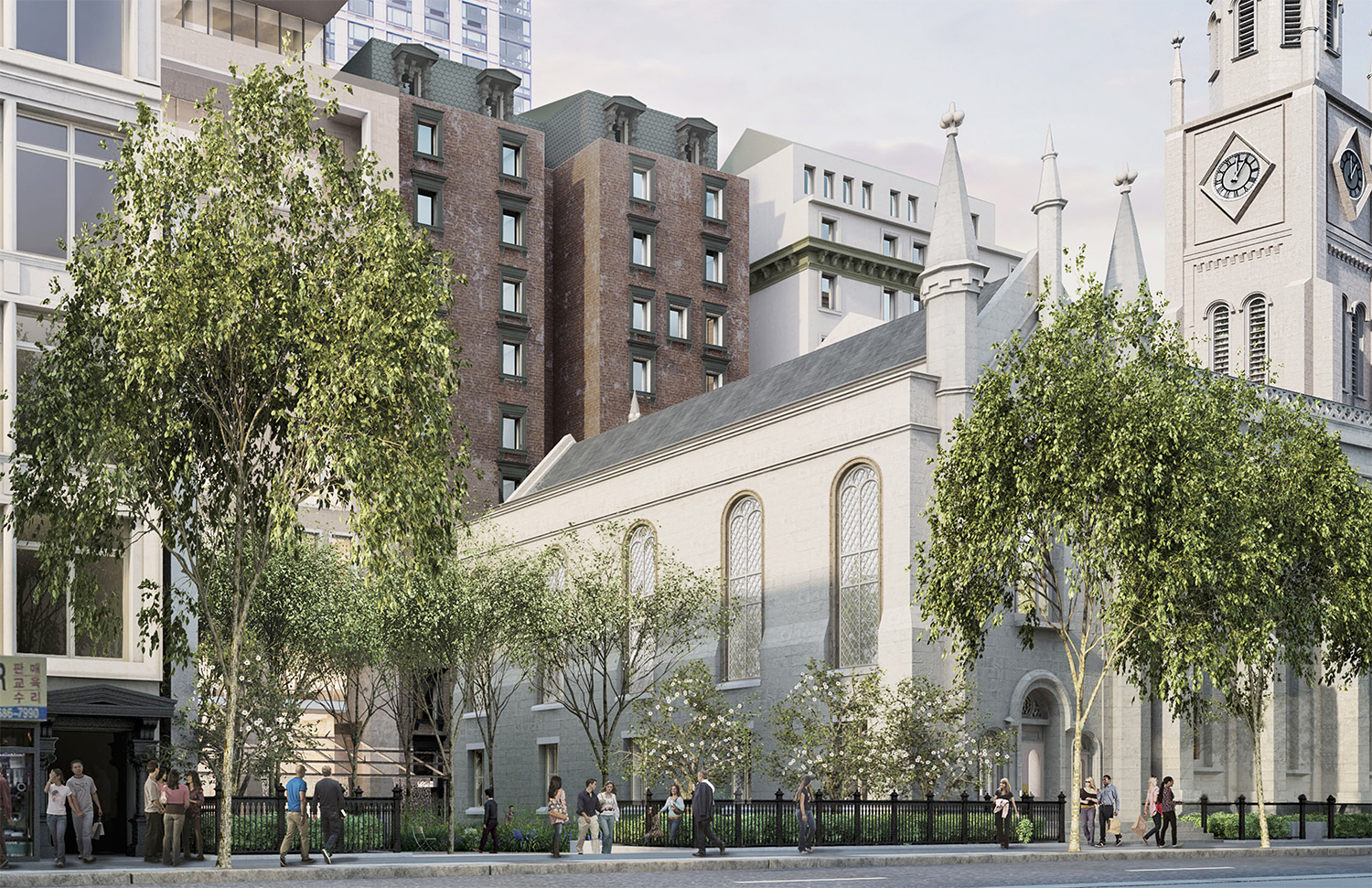 Proposed new western facade for the Marble Collegiate Church.