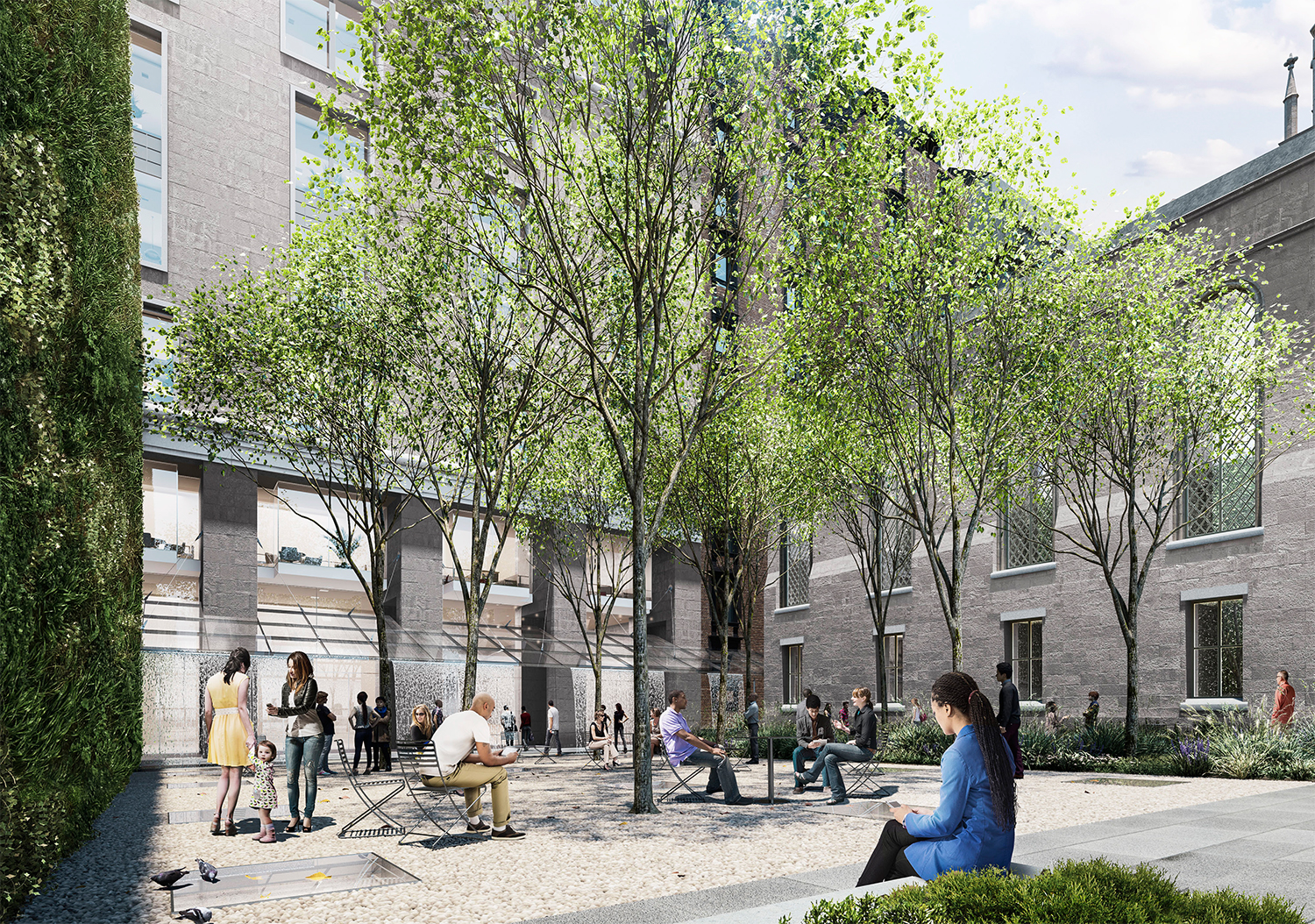 Proposed Marble Collegiate Church garden park during the day.
