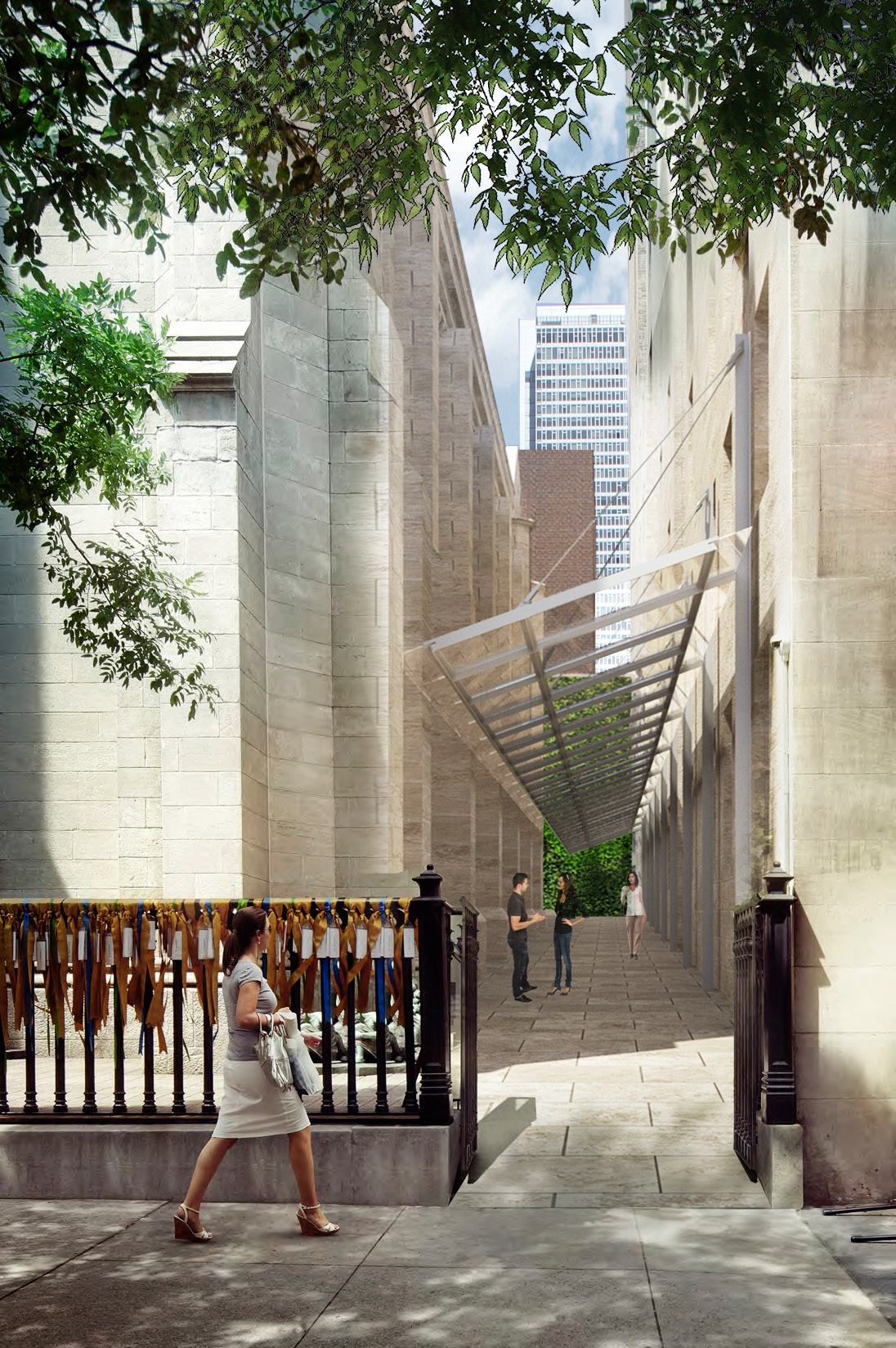 Rendering of the passageway that would replace Marble Collegiate Church's executive building.