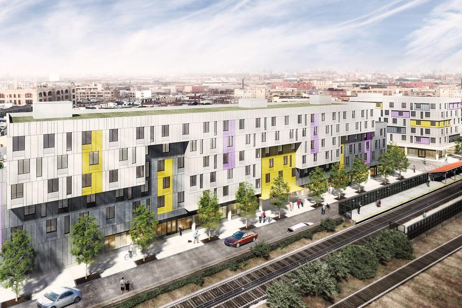 Van Sinderen Plaza, rendering via McQuesten Development
