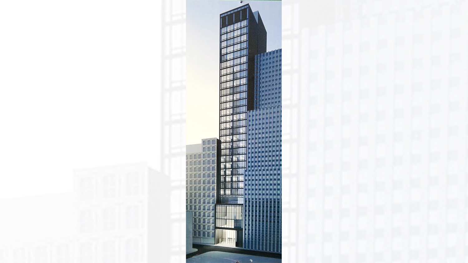Rendering of 143 Fulton Street. Courtesy YIMBY reader Rich Brome.