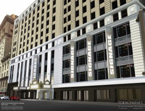 Rendering of new 43rd Street entrance to the Paramount Building.