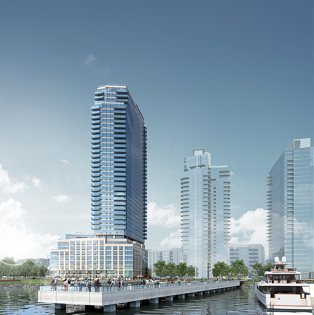 2 North 6th Place, rendering by Stephen B Jacobs Group