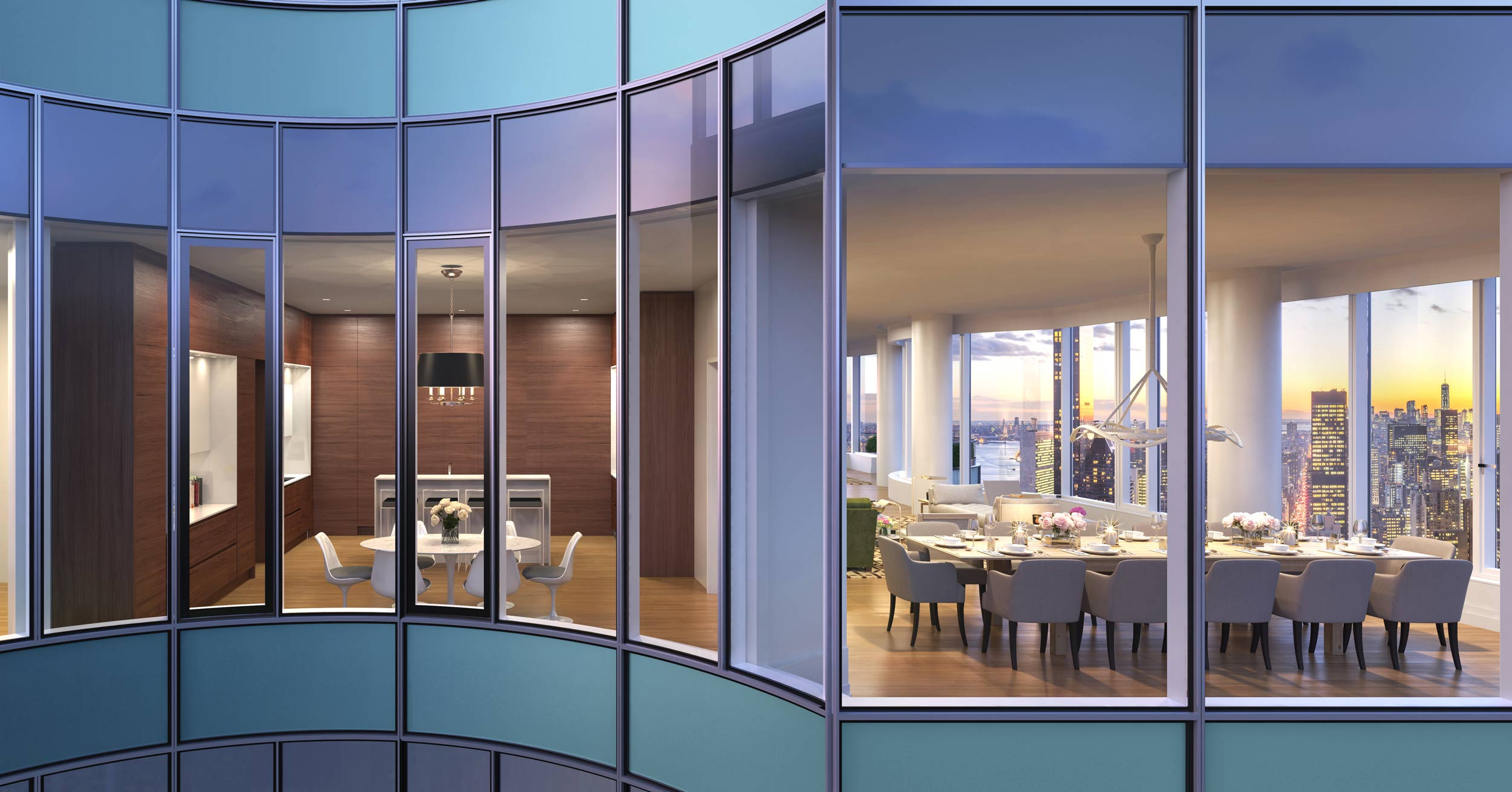 New look at 65 story residential tower nearing completion for 57th street salon