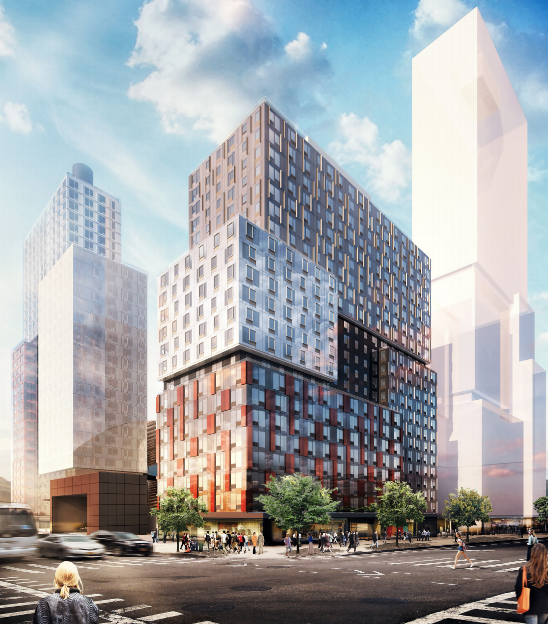 38 Sixth Avenue, rendering by SHoP Architects