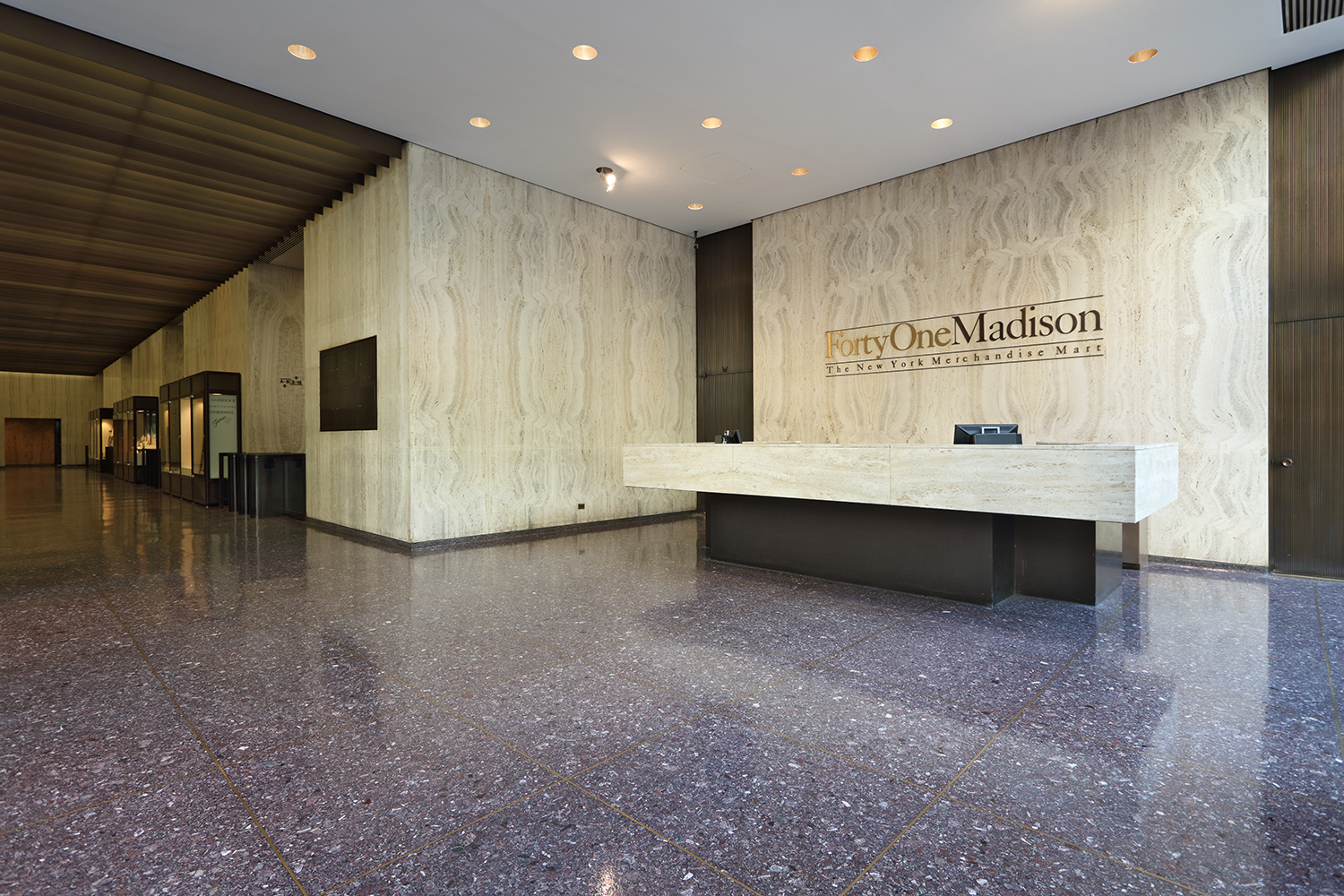 41 Madison Avenue, existing lobby. Via Rudin.