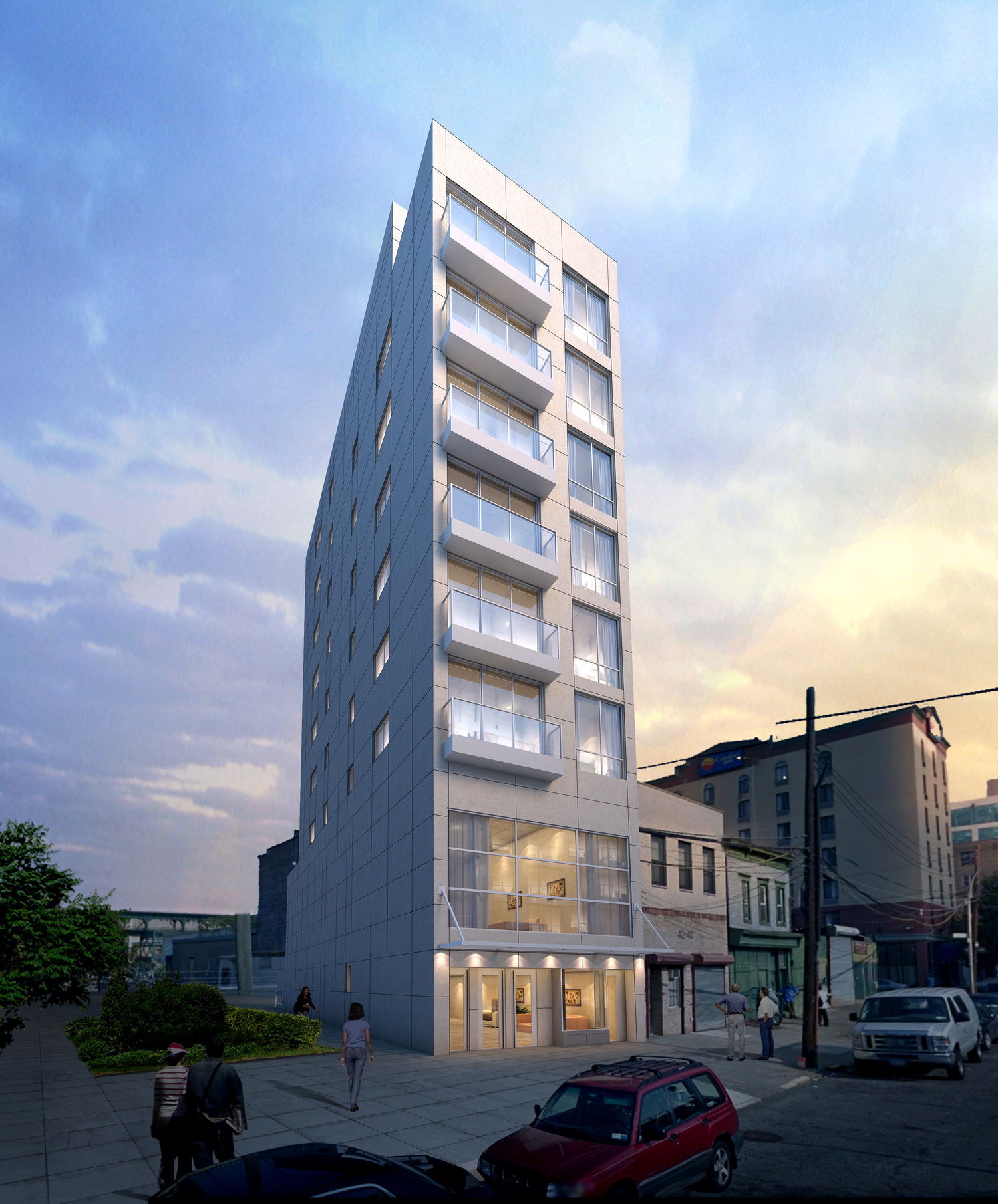 42-44 Crescent Street, rendering by Architects' Studio