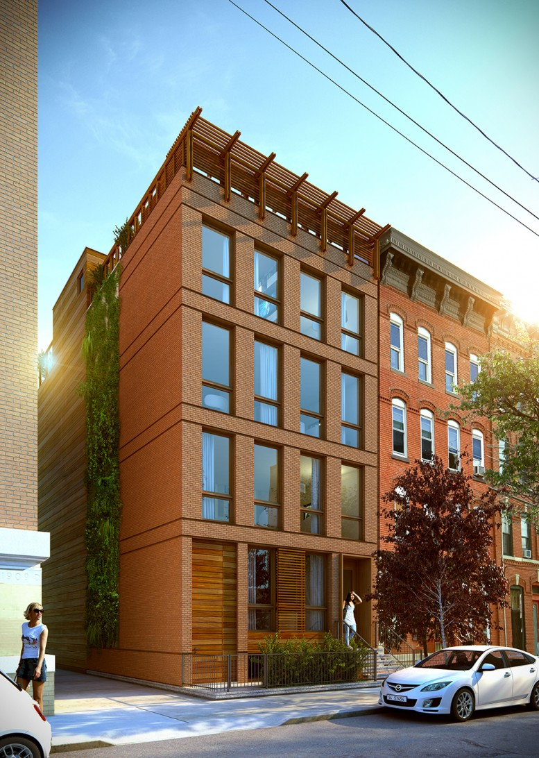 four story four unit building rises at 54 bright street jersey