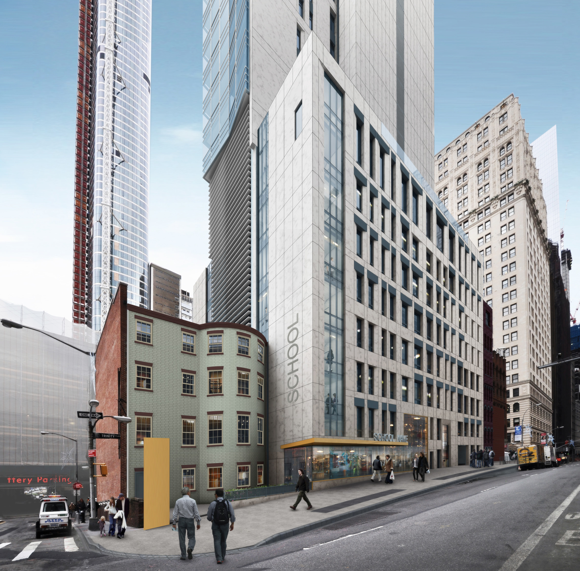 67 Greenwich Street and 77 Greenwich Street, previous design (with pylon)