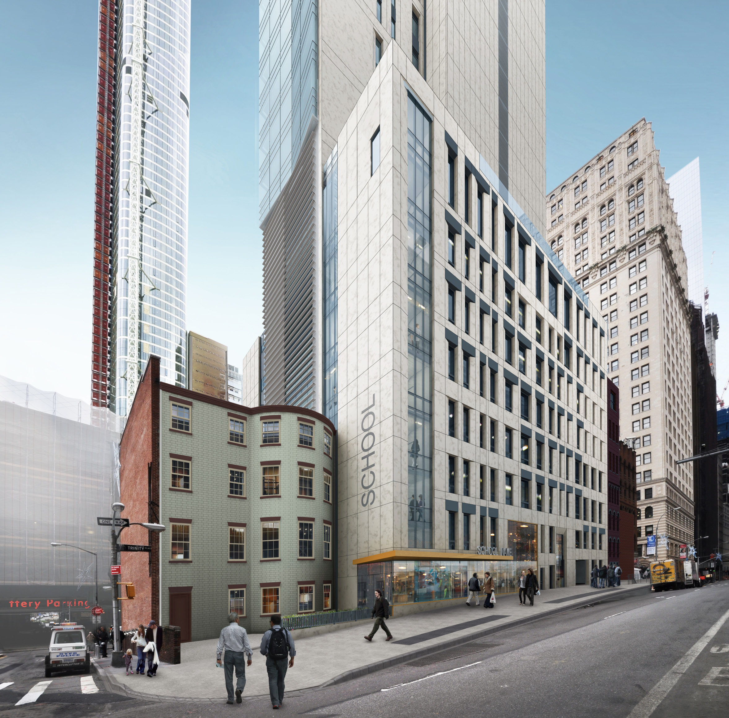 67 Greenwich Street and 77 Greenwich Street, revised design (without pylon)