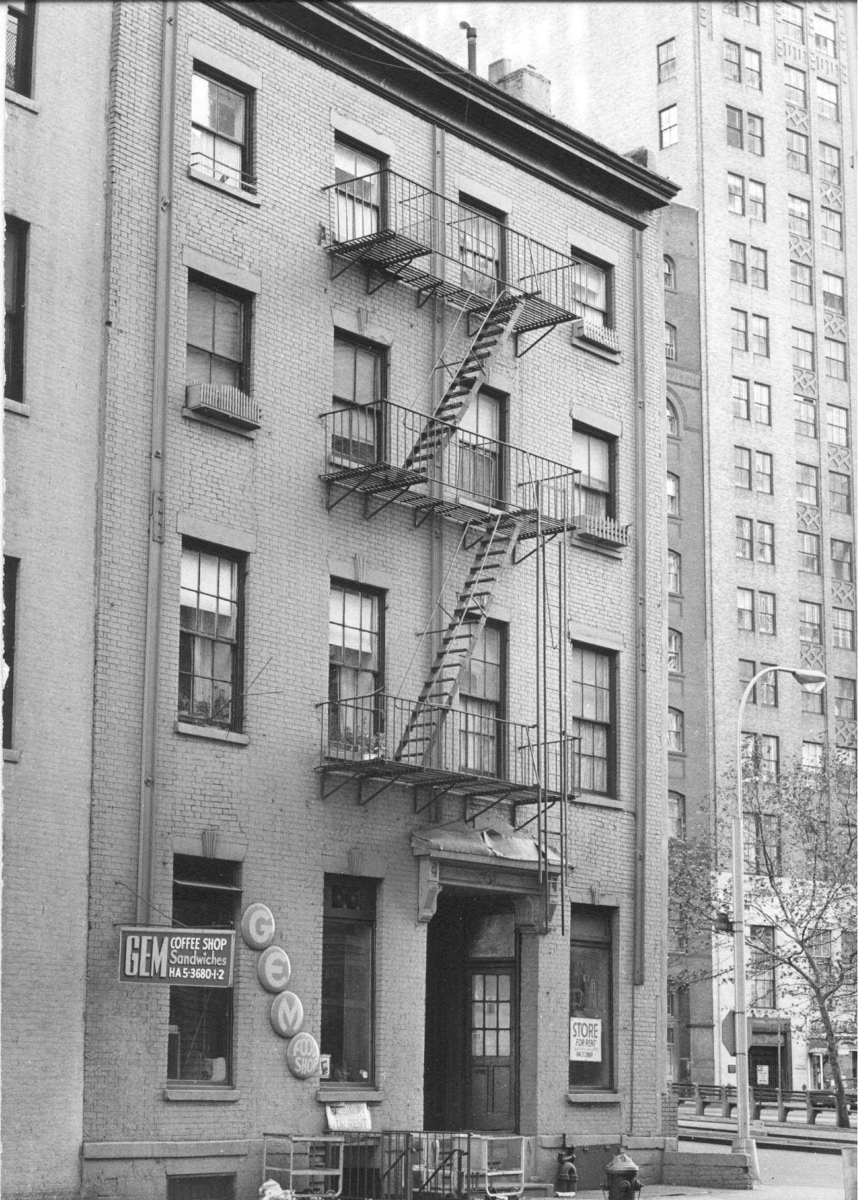 Undated photo of the Robert and Anne Dickey House, 67 Greenwich Street