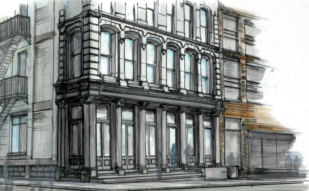 80 White Street renovation plan, image by FSI Architecture via LPC