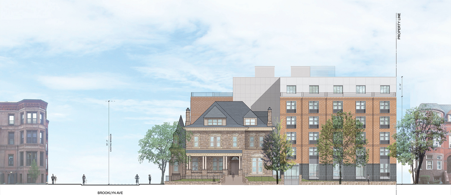 Proposal for 839 St. Marks Avenue, St. Marks Avenue perspective