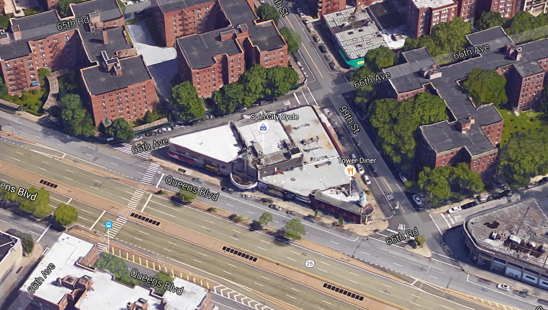 Aerial view of 98-81 Queens Boulevard - Google Maps