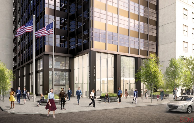 Rendering of new entrance to 41 Madison Avenue. Credit: Rudin/SOM.