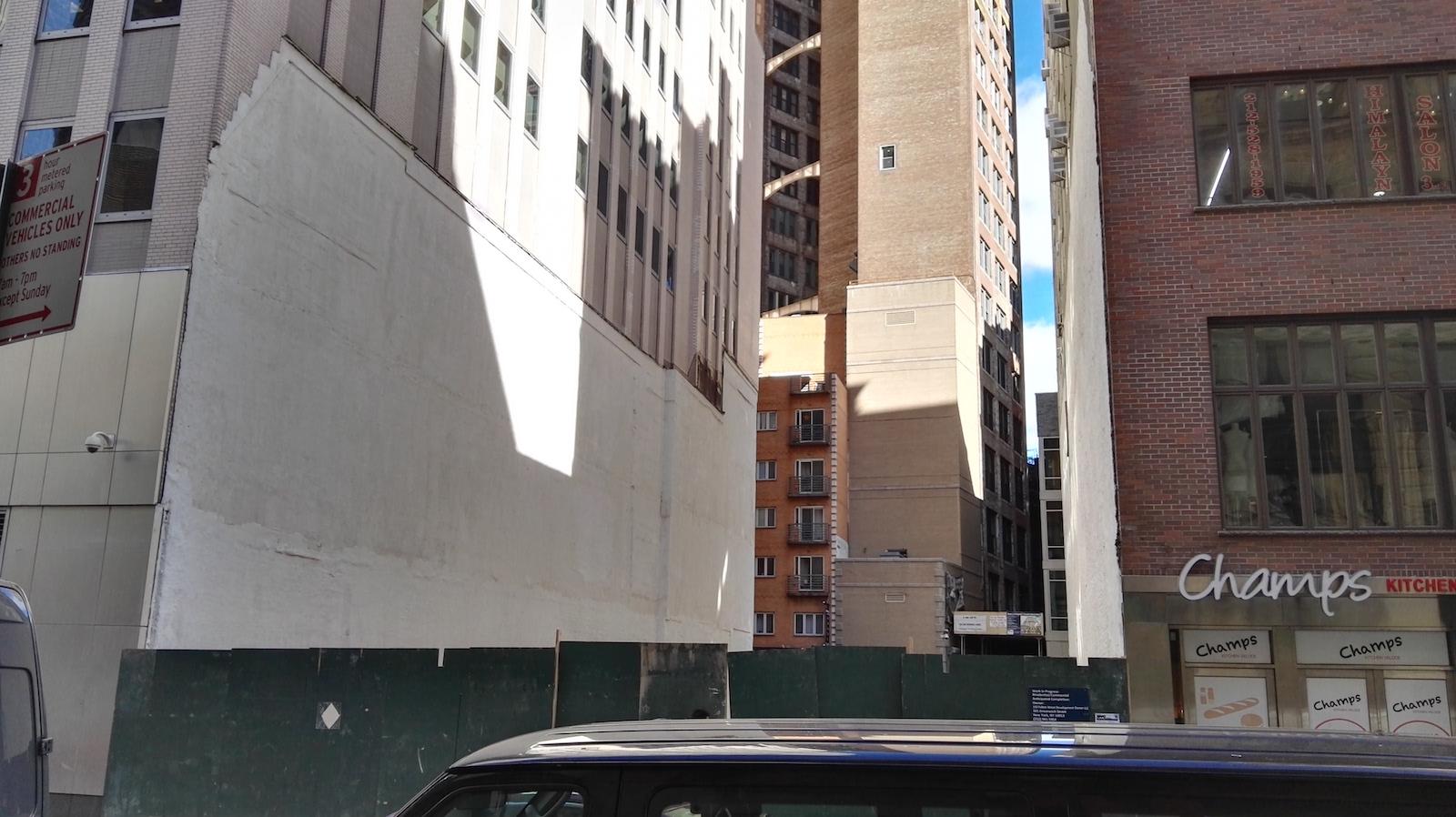 143 Fulton Street construction site. Photo courtesy YIMBY reader Rich Brome.