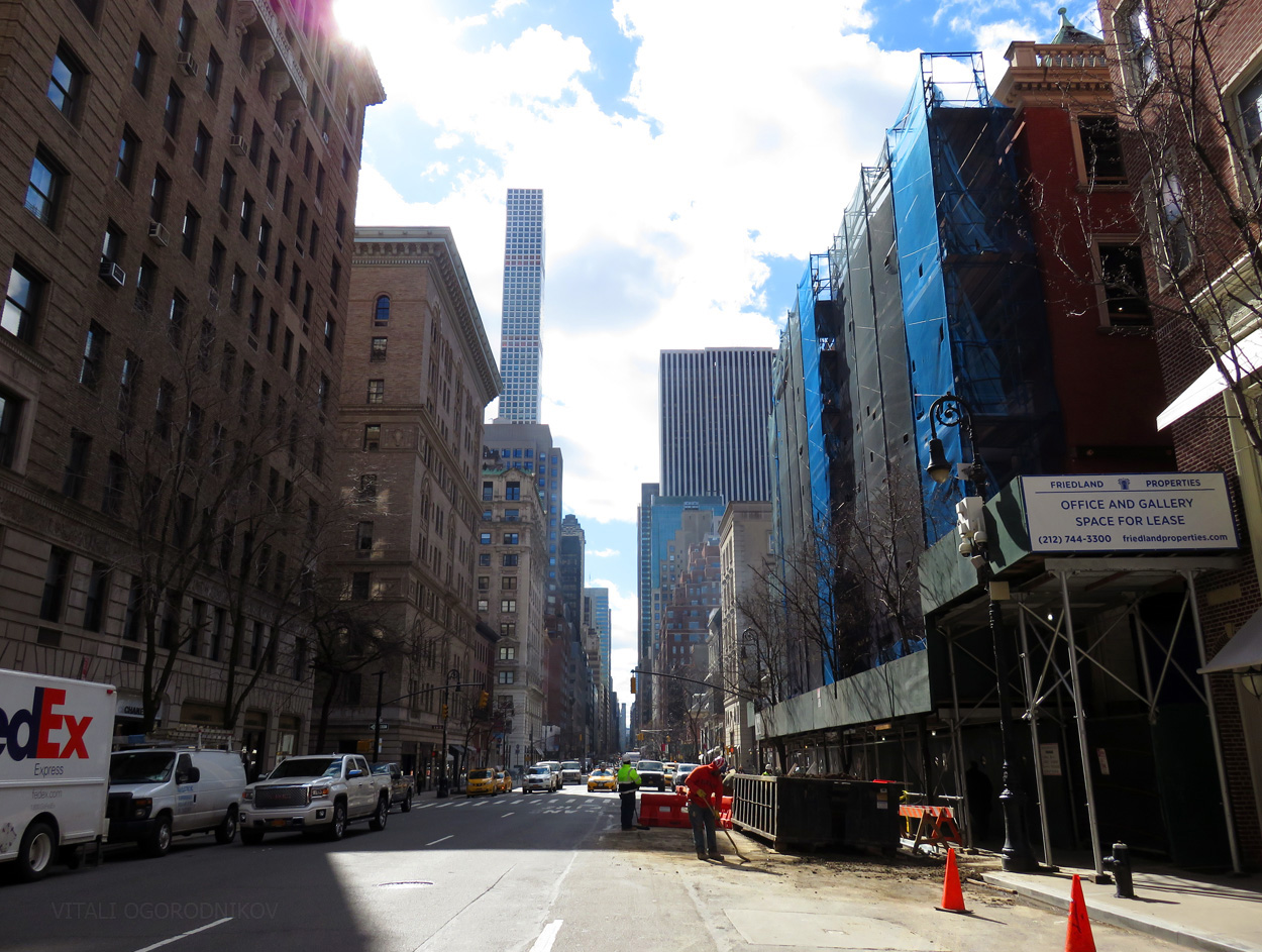 Looking south along Madison Avenue