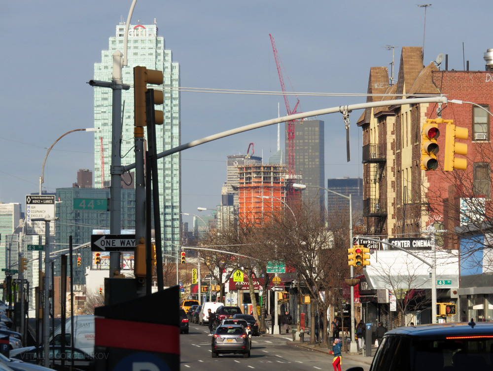 Looking west from Queens Boulevard in Sunnyside