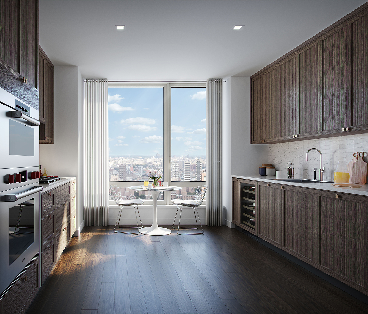 Rendering of a kitchen at the Easton. Credit: Moso Studio