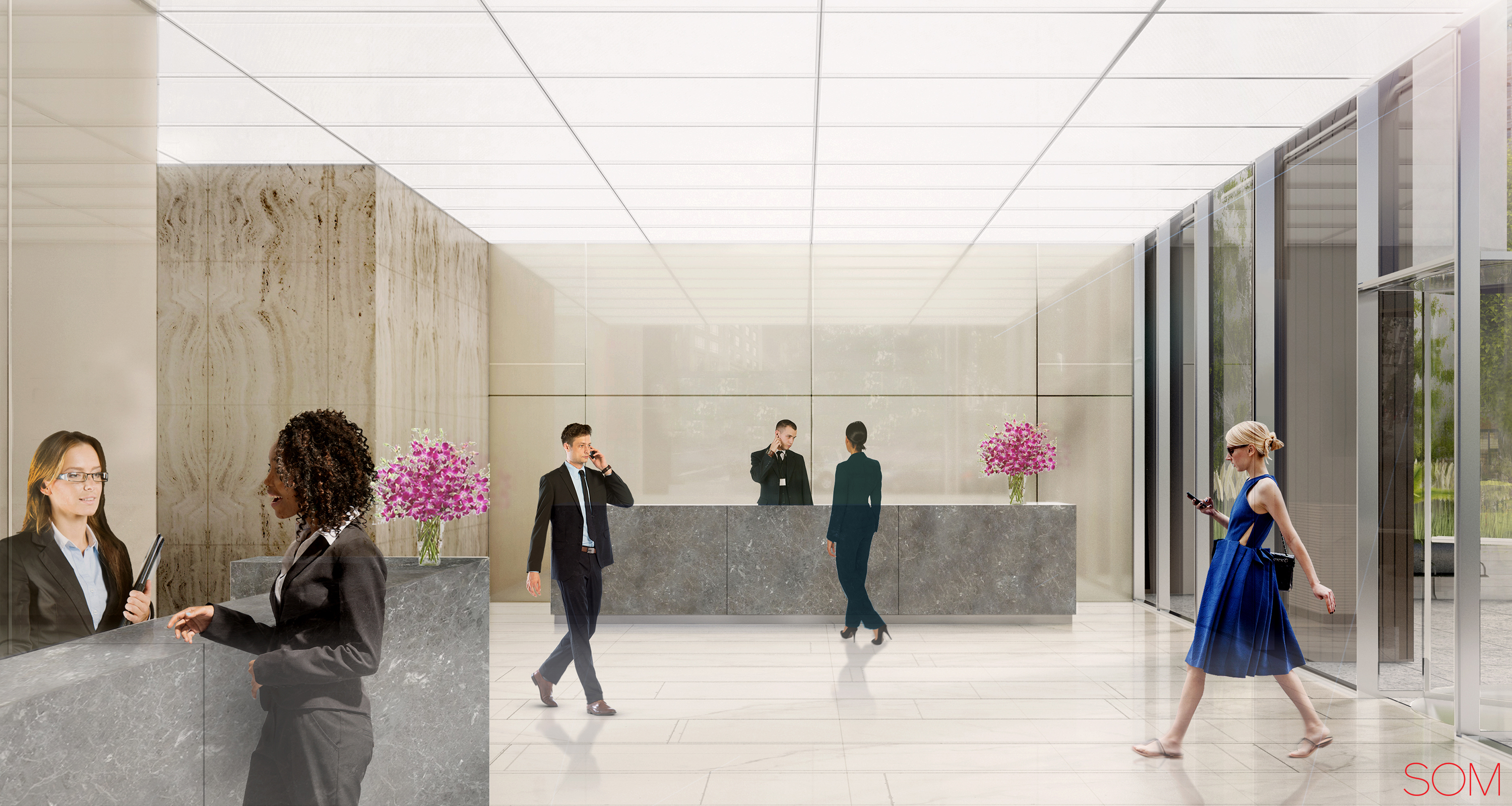 Rendering of new lobby at 41 Madison Avenue. Credit: Rudin/SOM.