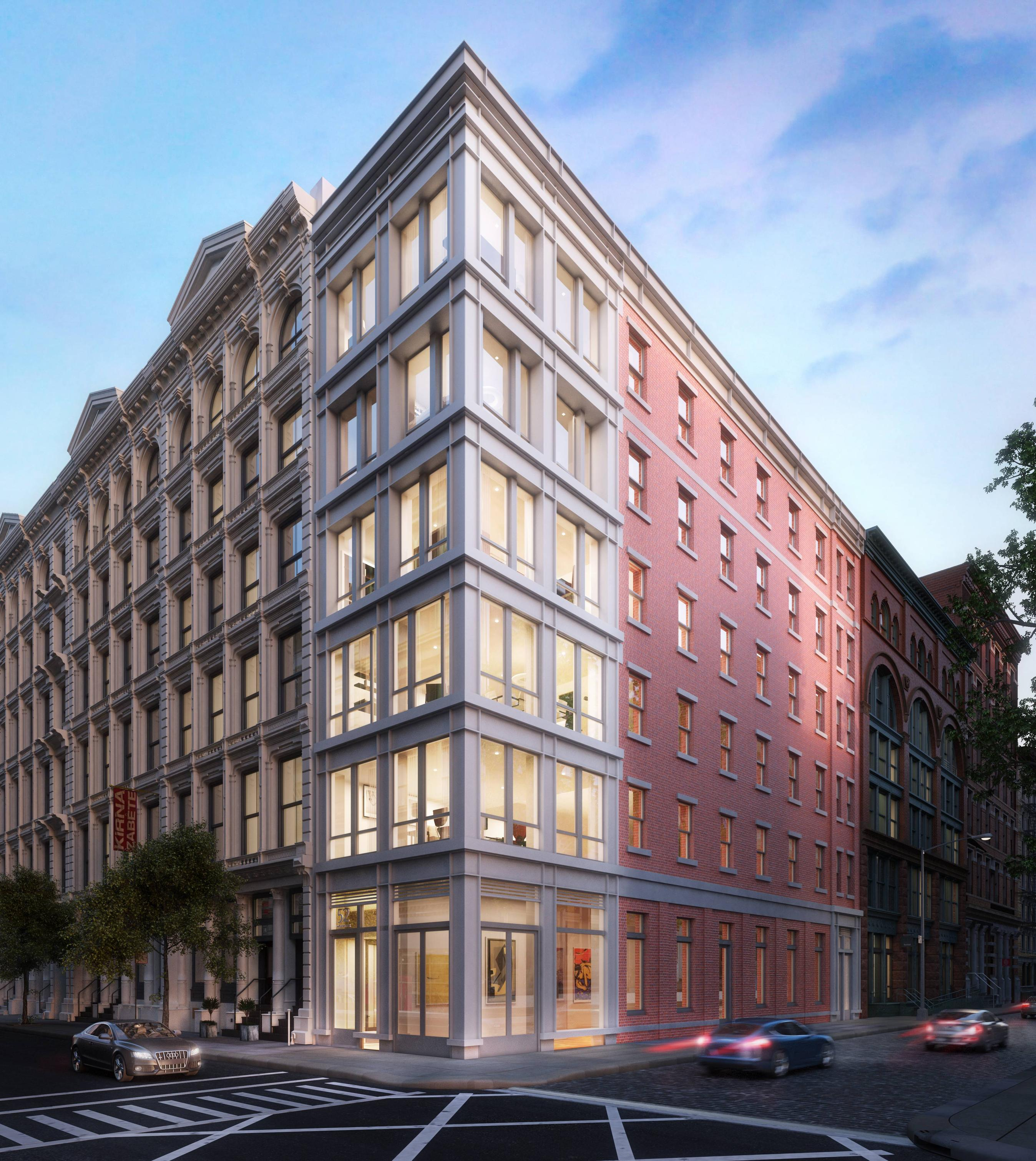 Rendering of 52 Wooster Street.