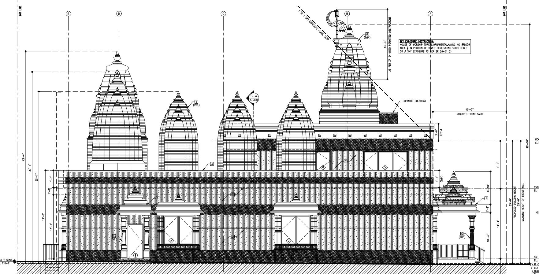 East side of 264-12 Hillside Avenue, drawing by Manish Savani Architect