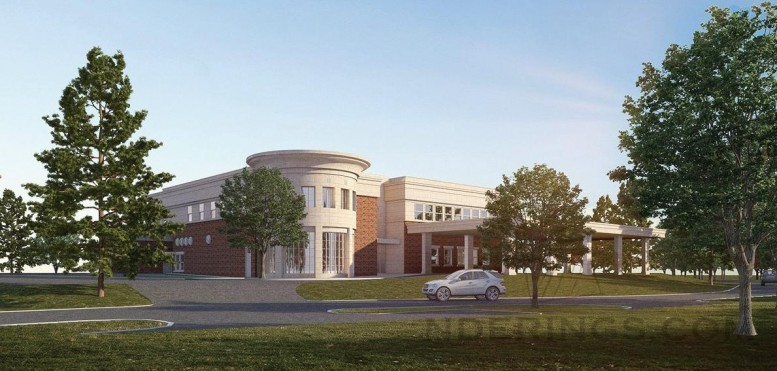 New Meals on Wheels building, rendering by Rampulla Associates Architects
