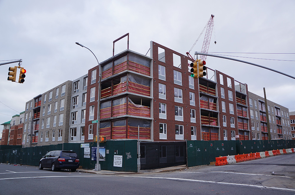 Phase 2 of Prospect Plaza under construction at 1796 Prospect Place