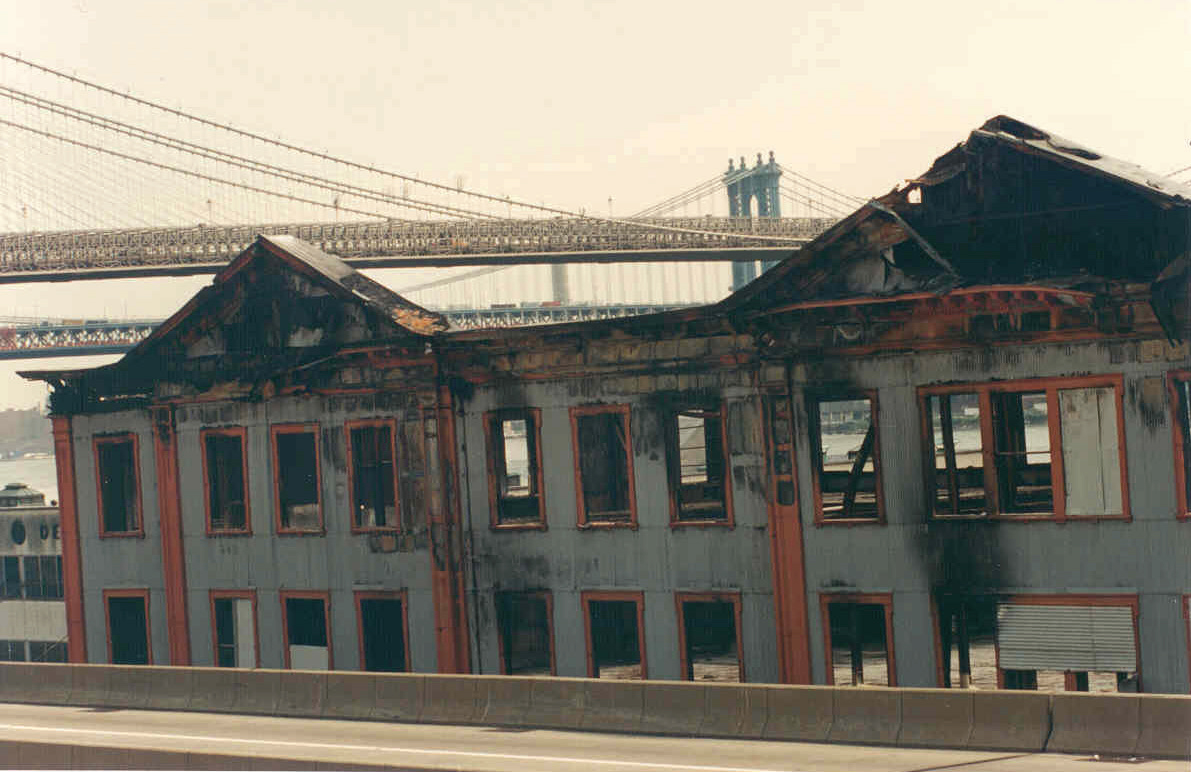 The Tin Building following the 1995 fire.