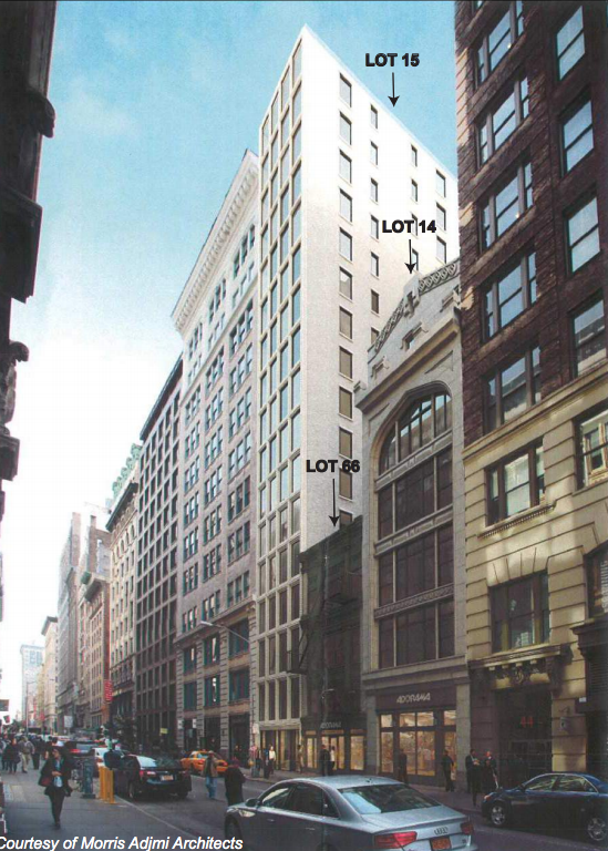 38-42 West 18th Street, rendering by Morris Adjmi Architects